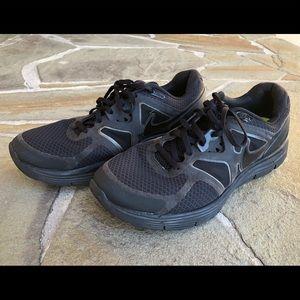 Nike triple black running shoes